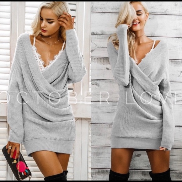October Love Dresses & Skirts - The Perfect Grey Knit Dress
